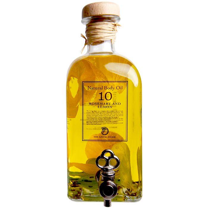 リビングストーン ボディオイル ローズマリー&レモン 500ml